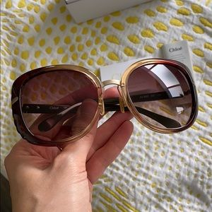 Chloe Accessories - Oversized Chloé Sunglasses w/ Scalloped Frame